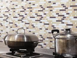 Peel And Stick Glass Subway Tile Backsplash by Interior Peel And Stick Kitchen Backsplash Stunning Home Design