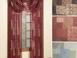 Lace Curtains Panels With Attached Valance by Curtains Burgundy Curtains With Valance Posirippler Contemporary