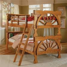 Used Wooden Captains Chairs by Woodcrest Heartland Br Casual Style L Shaped Loft Bed With Built