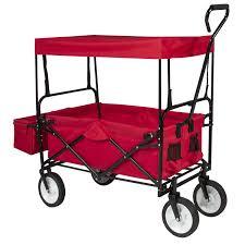 Folding Wagon Garden Cart with Canopy