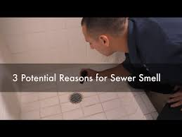 why do i have a sewer smell in my bathroom 3 potential reasons