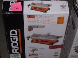 ridgid tile saw tool clearance closeout returns k bid