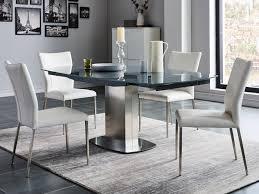 essgruppe talicia esstisch 4 stühle grau weiß