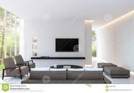 modernes weißes wohnzimmer verzieren wand mit linie muster