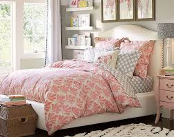 Light And Airy Bedroom With Vibrant Tone Grey Pink White Color Scheme