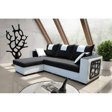 canapé noir et blanc convertible canape cuir noir et blanc maison design wiblia com