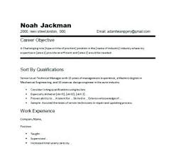 Writing Objectives For Resume Sample Hotel Restaurant Management Graduate