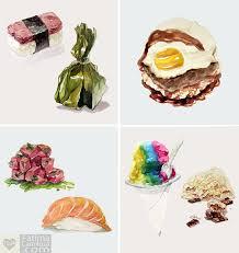 Watercolor Hawaiian Food Series by taho