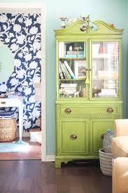 Psstudio Grandmothers China Cabinet In Aqua Living Room