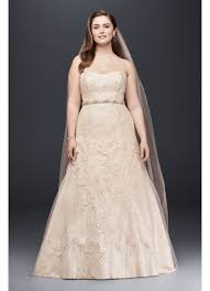 Jewel Lace A Line Beaded Plus Size Wedding Dress