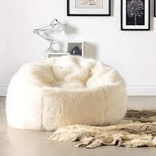 icon klassischer sitzsack aus kunstpelz soho kunstfell groß sitzsäcke für das wohnzimmer schlafzimmer sitzsäcke für erwachsene