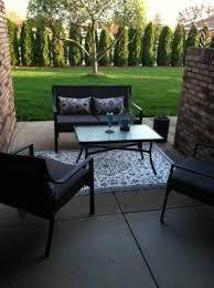Mainstays Patio Furniture Manufacturer by Mainstays Alexandra Square 4 Piece Patio Conversation Set Grey