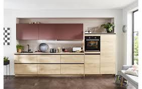 puristische küche mit xl stauraum in eiche nachbildung