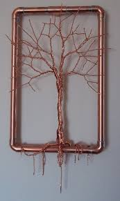 Copper Wire Tree Sculptur Hanging Wall Art By TwistedSouls On Etsy