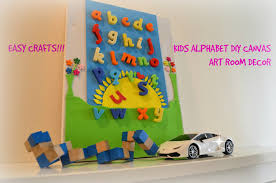 Diy Crafts 3D Canvas Alphabet Wall Art Room Decor For Kids