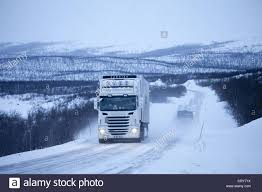 100 Viking Trucking Transport Service Truck Travels Through Arctic Wilderness At