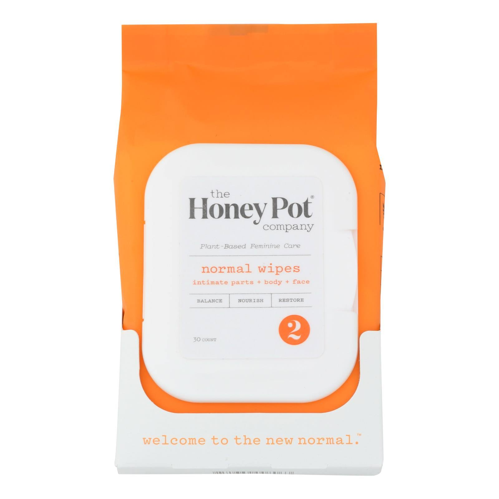 The Honey Pot Normal Feminine Wipes - 30ct