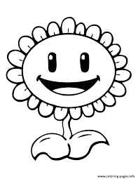 Happy Plant Plants Vs Zombies Coloring Pages Print Download 358 Prints