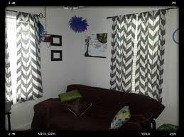 Chevron Print Curtains Walmart by Mainstays Chevron Polyester Cotton Curtain With Bonus Panel