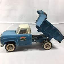 100 Blue Dump Truck Vintage 1960s Tonka Hydraulic White Cab Pressed