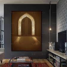 nordic poster hd leinwand malerei islam tür hintergrundbeleuchtung druck hause dekoration wand kunst bilder für wohnzimmer decor