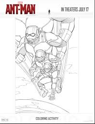 Ant Man Is Now In Theaters Free Coloring Sheets Family Activity Pack