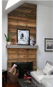 DIY Mantel Wall Upgrade With Pallet Wood