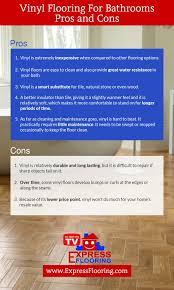 Vinyl Flooring Pros And Cons by Vinyl Flooring For Bathrooms Pros And Cons Express Flooring