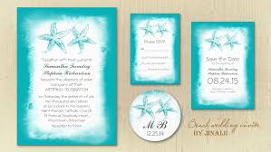 Watercolor Beach Wedding Invites