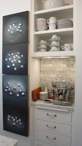 Cuisinart Keurig Coffee Maker With Eclectic Kitchen Also Espresso Machine Inset White Cabinets Integrated Cutting Board Marble Countertops Tile Open