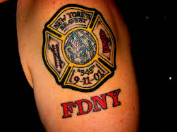 Maltese Cross Firefighter Tattoo Design Photo