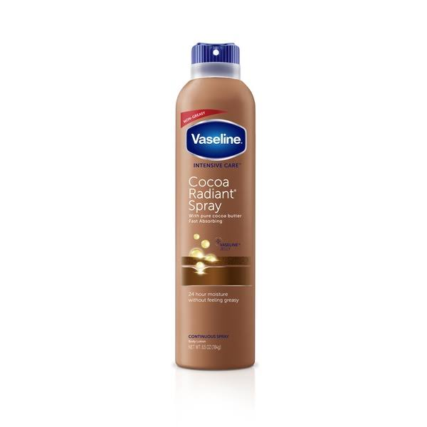 Vaseline Intensive Care Cocoa Radiant Spray and Go Moisturizer - 6.5oz