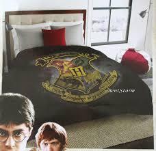 harry potter hogwarts wizard school crest full queen comforter 81