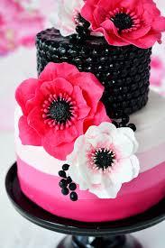 kessy s pink sugar pinke anemonen torte unwired anemones