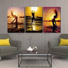 home decor wandbilder für wohnzimmer leinwand 5 stück leinwand sunset strand nackte frauen ölgemälde ungerahmt