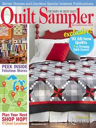 Quilt Sampler Table of Content Spring Summer 2016