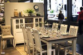 Rustic Dining Room Ideas by Modern Rustic Dining Room Dark Wooden Table White Chairs Black
