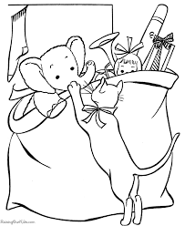 A Bag Of Toys Coloring Page