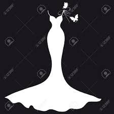 Wedding Dress clipart silhouette 7