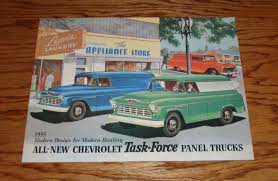 1955 CHEVROLET TASK Force Panel Trucks Sales Brochure 55 Chevy ...