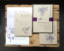 Purple Wedding Invitations Plum And Lavender Rustic Lilac Luxury Invites