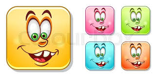 Happy Silly Laughing Emoji Face Emoticons Collection Colorful Smiley Set Avatar Symbol Internet Message Or Chat Icon Sign For Web Mobile App Logo