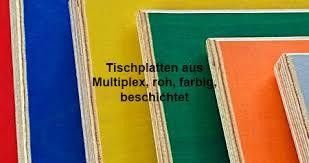 tischplatten aus multiplex roh farbig beschichtet