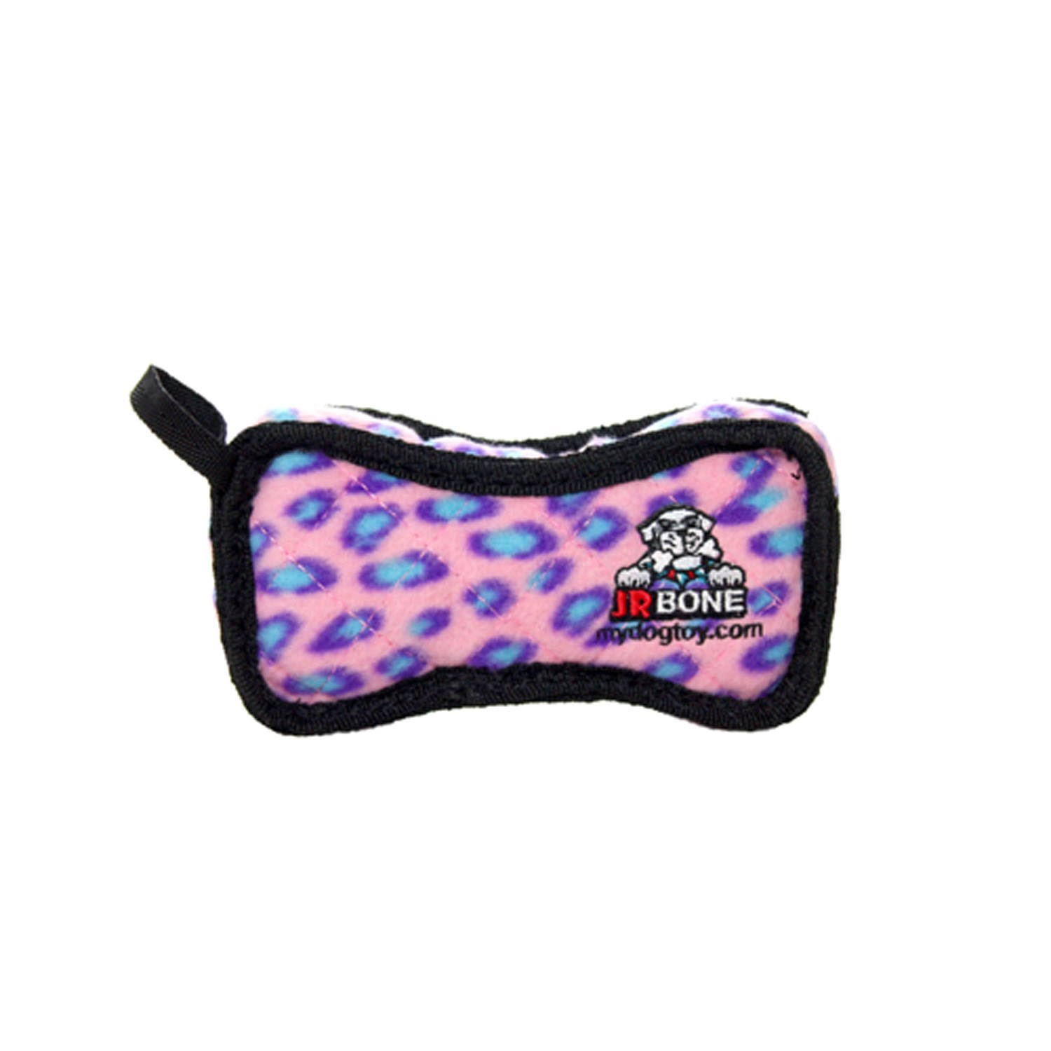 VIP Products Tuffy Jr Dog Toy - Pink Leopard, Bone2