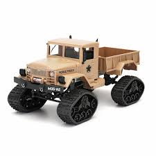 Fayee FY001B RC Military Truck Tracked Wheels Army 1:16 4WD Off-Road ...