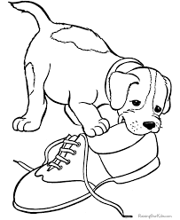 Pet Puppy Coloring Pages