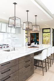 beautiful kitchen floating shelves with marble backsplash