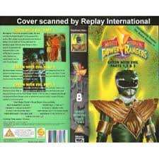 ranger part 1 mighty morph n power rangers 8 green with evil parts 1 3 vhs