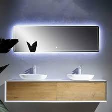 pharao24 design badezimmer set mit doppelwaschtisch weiß und