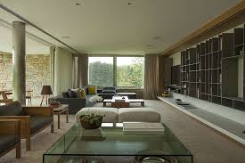 warm interior design from a modern home with dim lighting